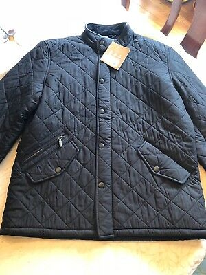 NEW Barbour International Quilted Jacket Black Men's sz XL With Tags
