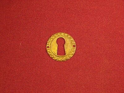 Vintage Antique Lock Escutcheon Brass Key Hole Cover Furniture Drawer Hardware