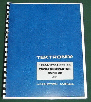 Tektronix 1740A / 1750A Series User Manual: Comb Bound & Protective Covers