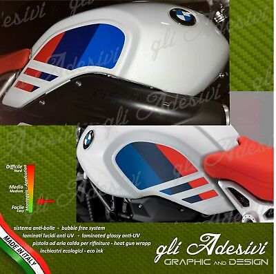 Set Adesivi serbatoio BMW Ninet Nine T Urban GS firma Gaston Rahier Paris Dakar