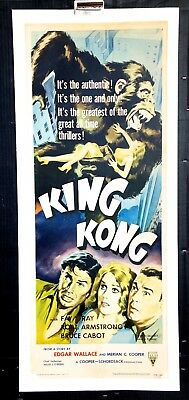 King Kong 1933 Original Movie Poster Insert Linen Backed R1956 Re-release