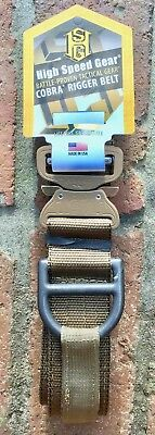 High Speed Gear HGH Cobra Rigger Belt 1.75 Large 36 - 38 Coyote Brown