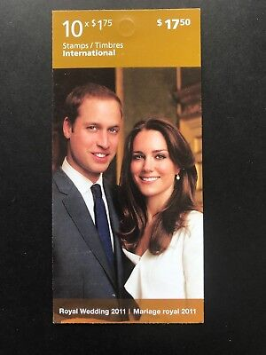 Canadian Stamps - ROYAL WEDDING 2011 Booklet of 10 x 1.75 NEW