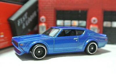 Hot Wheels Nissan Skyline 2000 GT-R  Loose - Blue - 1:64