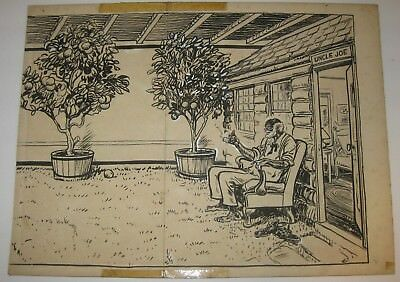 "Original ""UNCLE JOE"" African American CHILDREN'S BOOK Illustration - Dodd Mead"