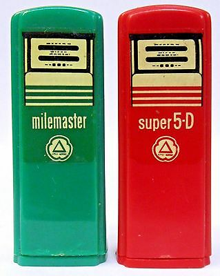 1950's CITIES SERVICE TROY OHIO pair of matched GAS PUMP salt & pepper shakers *