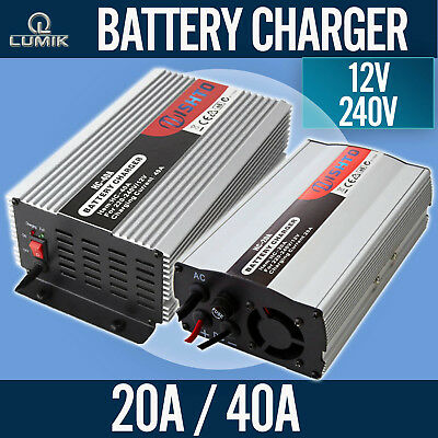 20A 40A Battery Charger -12V / 240V ATV Car Boat 4WD Caravan Motorcycle Bike