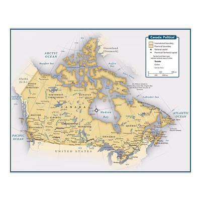 """10""""x8"""" (25x20cm) Print of Canada country map from"""
