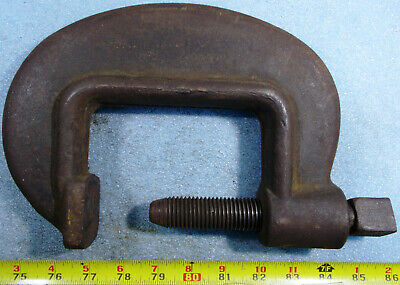 """ARMSTRONG No. 14 DROP FORGED HEAVY DUTY SERVICE C-CLAMP 4-5/8"""" opening 3"""" THROAT"""