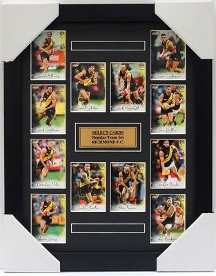 Richmond Tigers Afl 2018 Select Card Set Framed - Martin, Cotchin, Reiwoldt