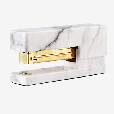 NEVER Marble Printing Manual Stapler Fashion Gold Stapler Office Accessorie A7A4