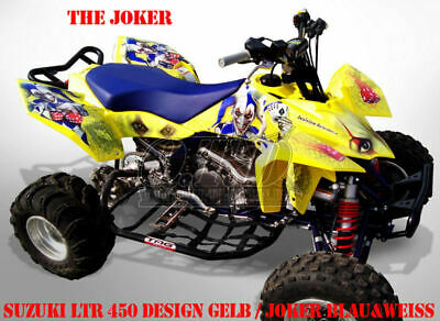 Invision Dekor Graphic Kit Atv Suzuki Ltr 450 Ltz400 Ltz250 The Joker Decals B