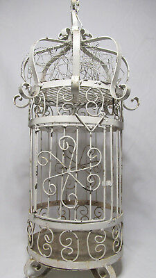 Antique VTG Metal Iron Bird Cages Shabby Chic French Victorian Country Birdcages