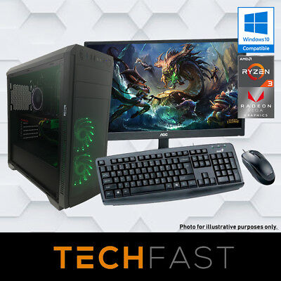 "Esports PRO 24"" Gaming Bundle - Ryzen 3 2200G 8GB DDR4 120GB SSD 500GB HDD"