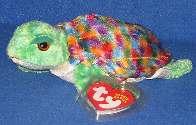 TY ZOOM the TURTLE  BEANIE BABY - MINT with MINT TAGS