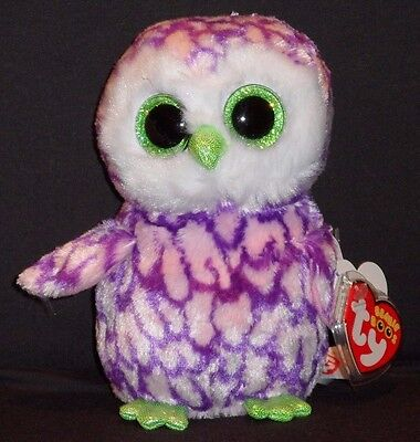 "TY BEANIE BOOS BOO'S - PIPPER the 6"" OWL - CLAIRE'S EXCLUSIVE - MINT w/ MINT TAG"