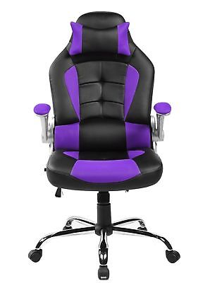 Merax High Back Executive Office Chair PU&Mesh Swivel Chair Racing Gaming Chair
