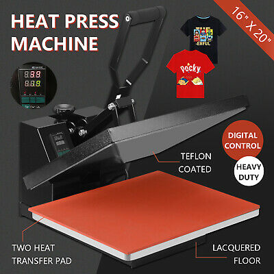 "16"" x 20"" Digital Clamshell Heat Press Transfer T-shirt Sublimation Machine"