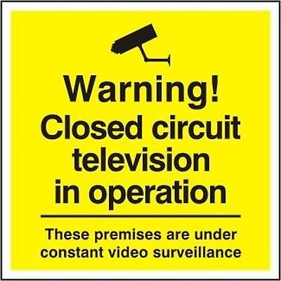 Cctv In Operation Sign Large Warning Security Sign - Building-Property-Land