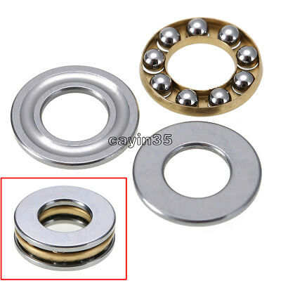 2PCS Axial Ball Thrust Bearing thrust needle roller bearing 8*16*5mm F8-16M UK