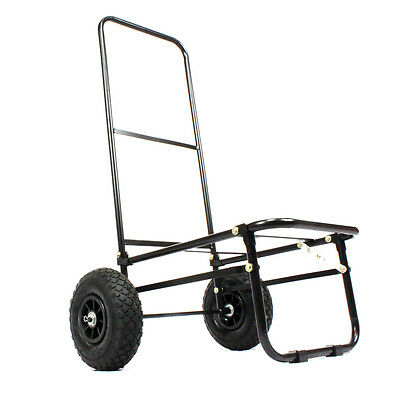 Koala Products® Large Fold Flat Seat Box Fishing Trolley Clip Off Wheels