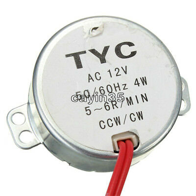 Pro TYC 50 12V 4W 50/60Hz Synchronous Motor 5/6RPM CW CCW Microwave Turntable UK