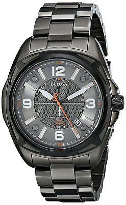 Bulova 98B225 Precisionist Grey Dial Black IP Stainless Steel Men's Watch