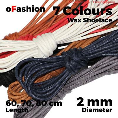 Wax Cotton Thin Round Dress Shoelaces Waxed Laces 2mm For Dress Shoes