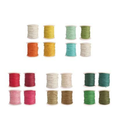 4 Rolls of 80 Meters Waxed Cotton Cord String Jewelry Making Findings 1mm