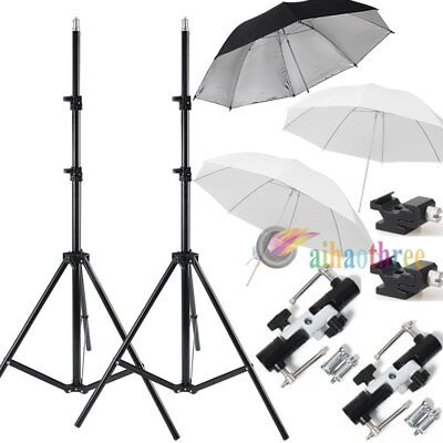 2Pcs Godox SN-302 Light Stand + Hot Shoe adapter + Umbrella Kit For Flash Light