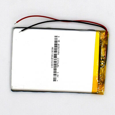 3.7 V 2300mAh 415071 Li-Polymer Rechargeable Battery Liion LiPo Cell for GPS MP3
