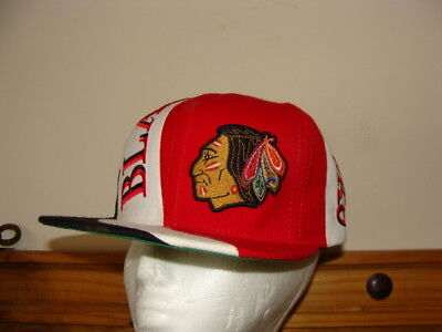 Chicago Black Hawks Nhl Classic Snap-Back Cap By Mitchell & Ness - One Size -Euc