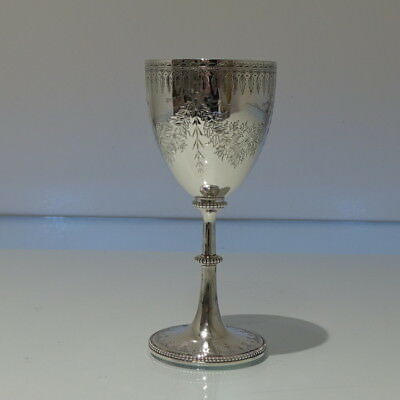 Mid 19th Century Antique Victorian Sterling Wine Goblet London 1861 George Fox