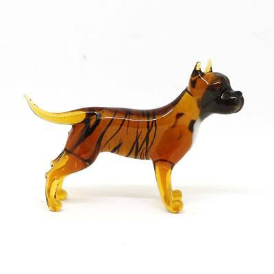 Middle blown glass figurine Dog - Pit Bull Terrier. Handmade #125