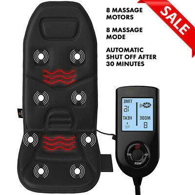Heated Back Massage Cushion Seat Chair Massager Neck Thigh Shoulder Car Pad NEW