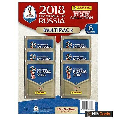 Fifa World Cup 2018 Football Sticker Collection: Multi-Pack - Inc 6 Packets