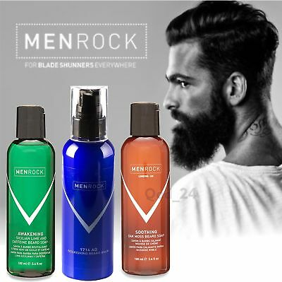 Men Rock London - Grooming Beard Hair Soap Balm Oil Conditioner Kit 100ml liquid