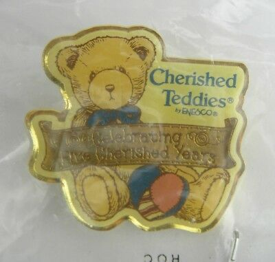Cherished Teddies by Enesco Celebrating 5 Cherished Years Collector's Pin Brooch