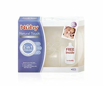 Nuby Natural Touch Compact 2-in-1 Steriliser (Bottles/Microwave/Soother/Baby)