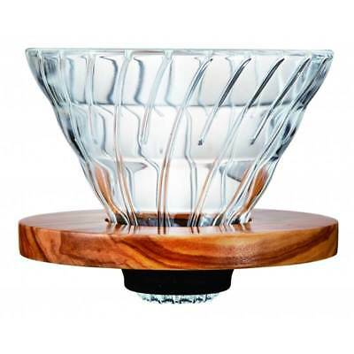 NEW Hario V60 Glass – Olive Wood Coffee