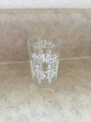 """100 PIPERS Clear SHOT GLASS Seagrams Blended Scotch Whiskey Bagpipes 2.5"""""""