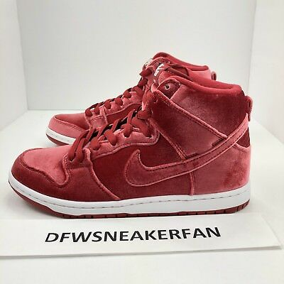 the latest c48ad 5f907 ... czech nike dunk high premium sb red velvet gym red size 8 new 313171 661  christmas