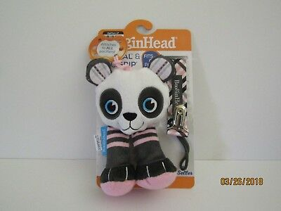 BooginHead PaciPal and PaciGrip 2 Piece Pacifier Set - Pink Panda