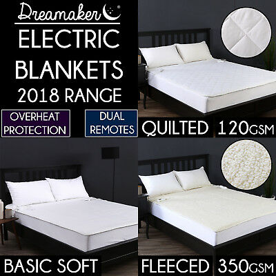 PREMIUM ELECTRIC BLANKETS EXTRA FLEECY QUILTED SOFT Heated Bed FITTED ALL SIZES