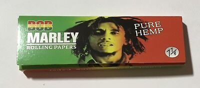 "NEW - Pack of Bob Marley Pure Hemp Rolling Papers 1 1/4"" - 32 Leaves Per Pack"