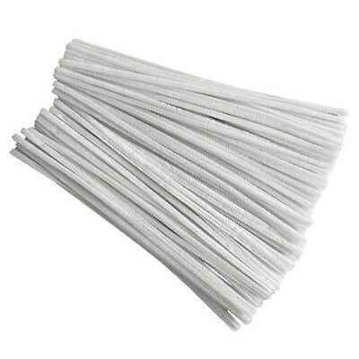 100 Pcs 30cm creation pipe cleaners, white T2G7