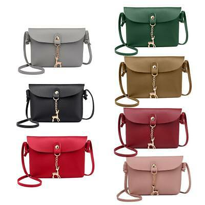 Women Small PU Leather Handbag Satchel Messenger Shoulder Cross Body Bag Purse