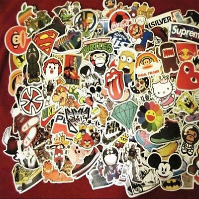 New 50pcs /lot Sticker Bomb Decal Vinyl Roll Car Skate Skateboard Laptop Luggage