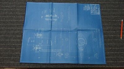 """(CR62) Original 1918 Blueprint Drawing 20"""" x 26"""" - Typical Stuffing Boxes"""