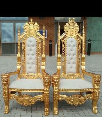 For Hire Only: Lion King U0026 Queen Throne Chairs In Gold Or Silver